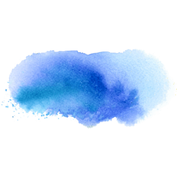 Blue sky Splatter watercolor splash png