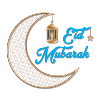 Eid Mubarak transparent eid mubarak png with moon