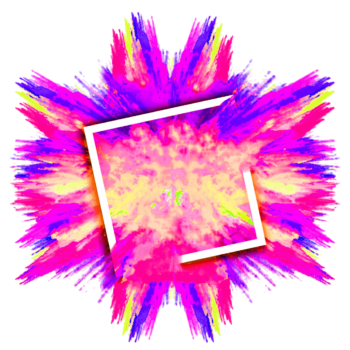 Explosion Color splash png colorful multicolored smoke image