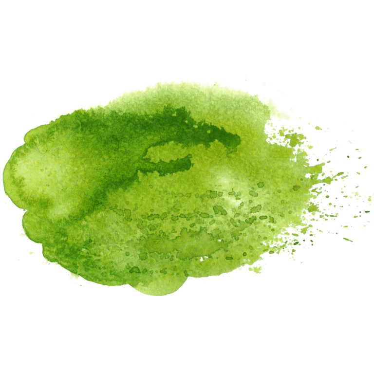 Green Splatter watercolor splash png