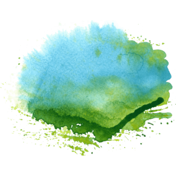 Green and cyan Splatter watercolor splash png