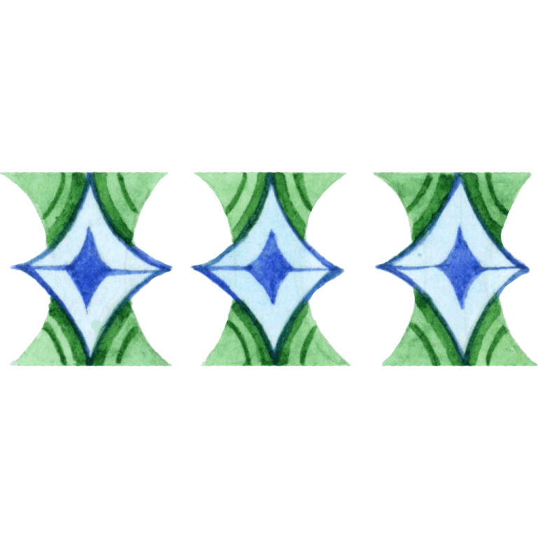 Green color style Watercolor pattern png