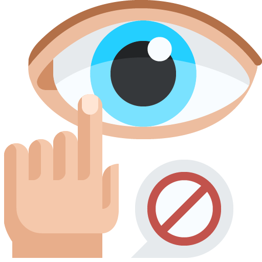 Icon png transparent Do not touch eyes