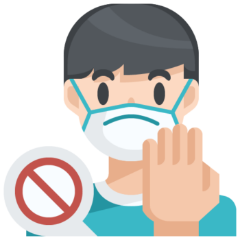 Icon png transparent Do not touch your face mask
