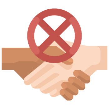 Icon png transparent Do not shake hands
