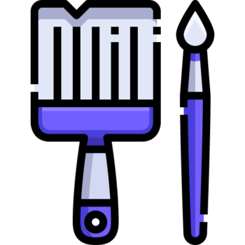 Icon png transparent Paint Brush
