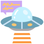 Icon png transparent UFO alien galaxy space explore future connection