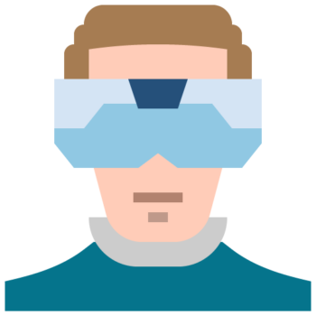 Icon png transparent developer scientist people man person VR expert