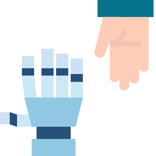 Icon png transparent handshake connection human robot future cooperative hand