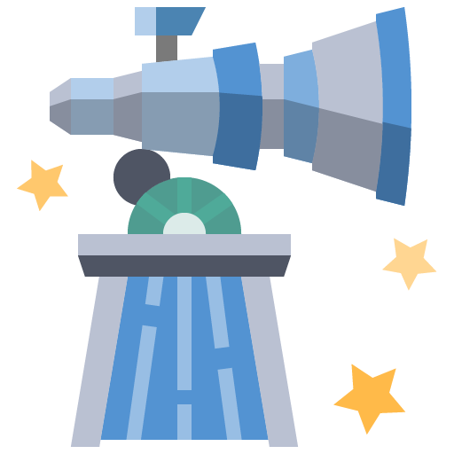 Icon png transparent observatory science planetarium astronomy telescope space galaxy