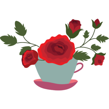 Red rose Watercolor flower png images tob