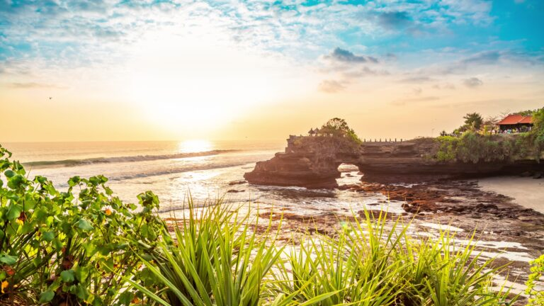 Tanah lot temple bali and rocky formation at the golden 1 scaled