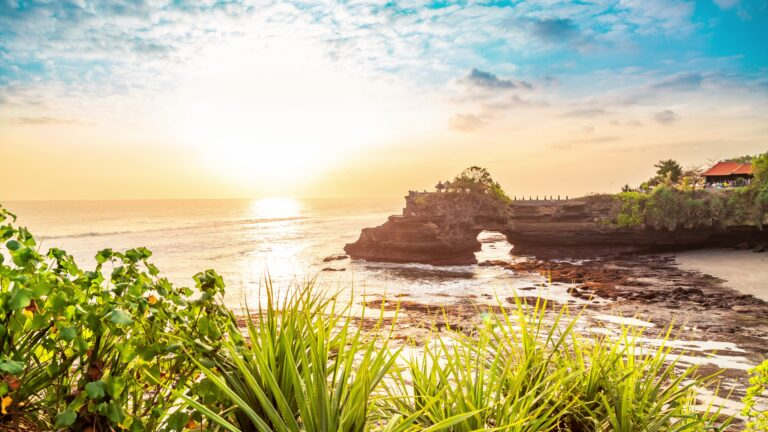 Tanah lot temple bali and rocky formation at the golden 2 scaled