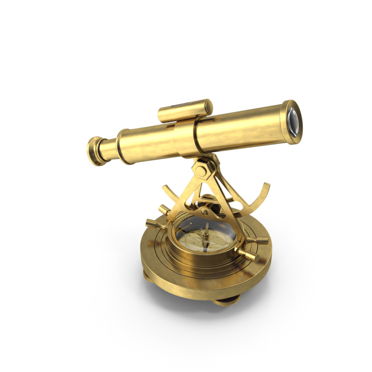 Brass Alidade Compass png image