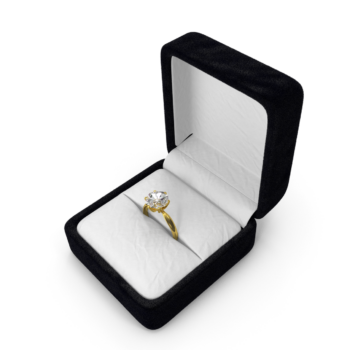 Diamond Ring In Box png image