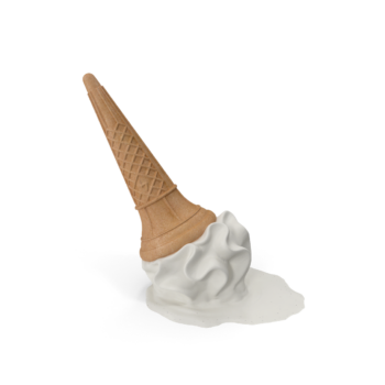 Dropped Ice Cream Cone png image
