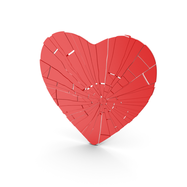 Flat Heart Cracked png image