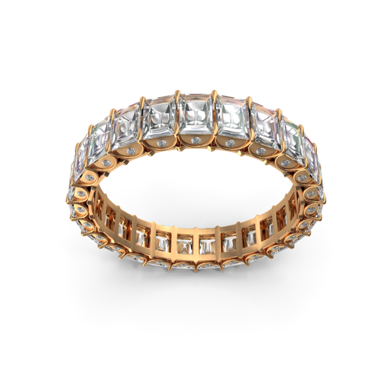 Gold Ring With Crystal Diamonds png image