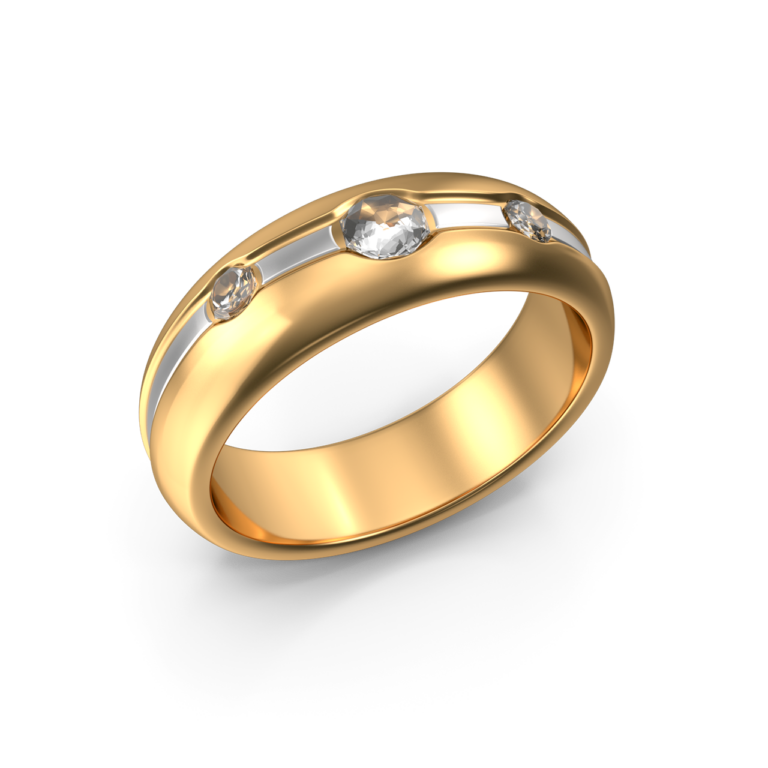 Golden Ring With Diamonds png image