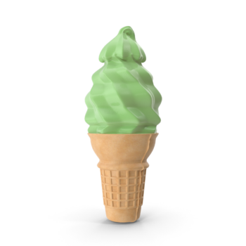 Green Ice Cream Cone png image
