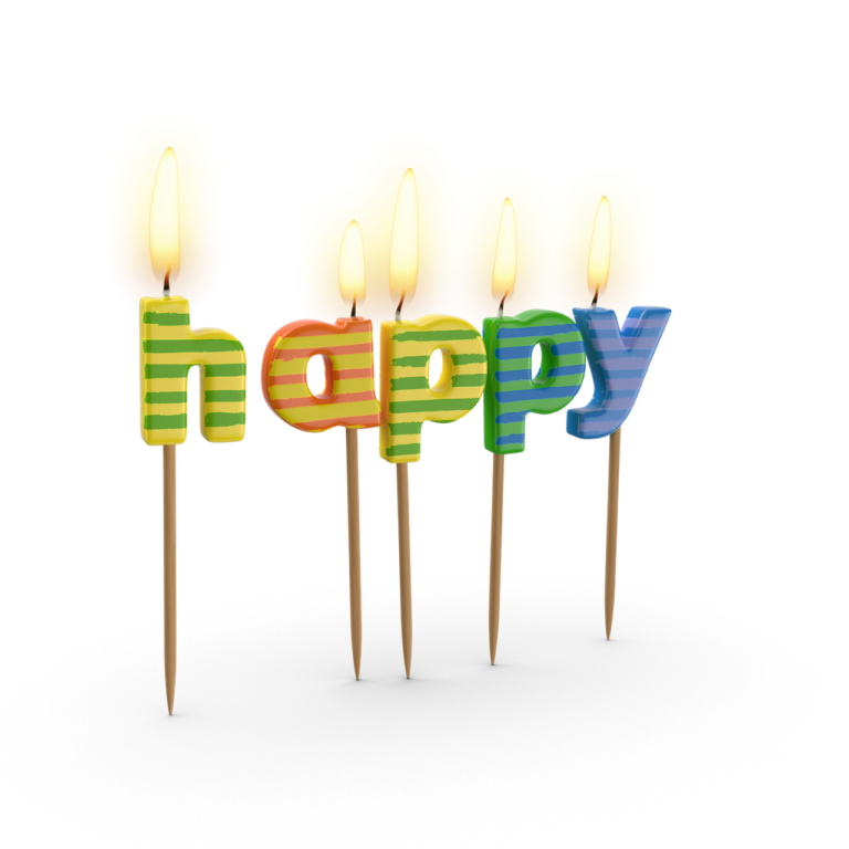 Happy Birthday Candles png images