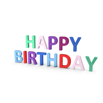 Happy Birthday Symbol Multicoloured png images