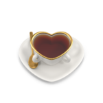 Heart Teacup With Tea png image