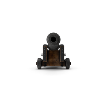 Medieval Gun On Gun Carriage png transparent pistol images