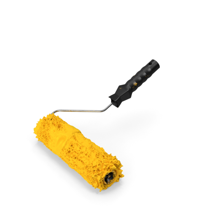 Paint Roller With Paint png image