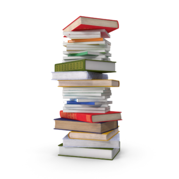 Short Stack Of Books png image