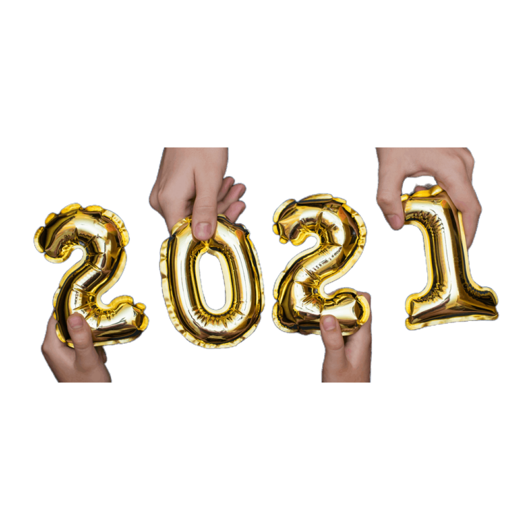Hands Up Holding The Golden Numbers From