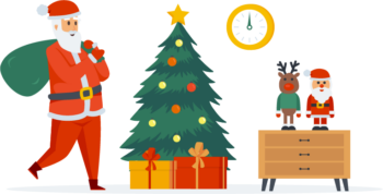 Elements Santa Claus Christmas People Character Scenes