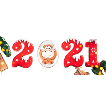 Gingerbread Of Numbers Christmas Happy New Y