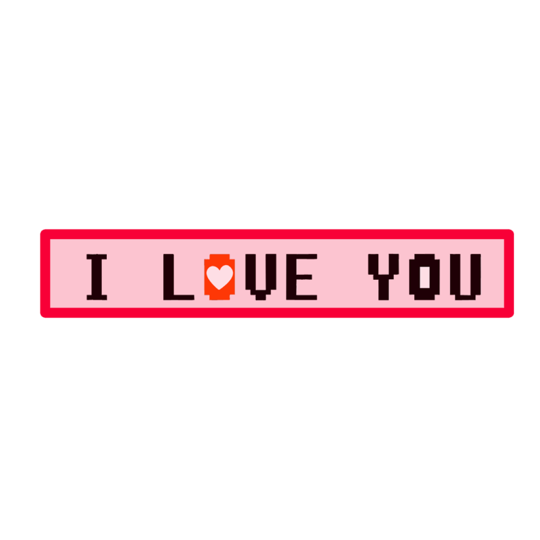 Love I love you text png image