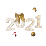 New Year Festive Green Background With Number