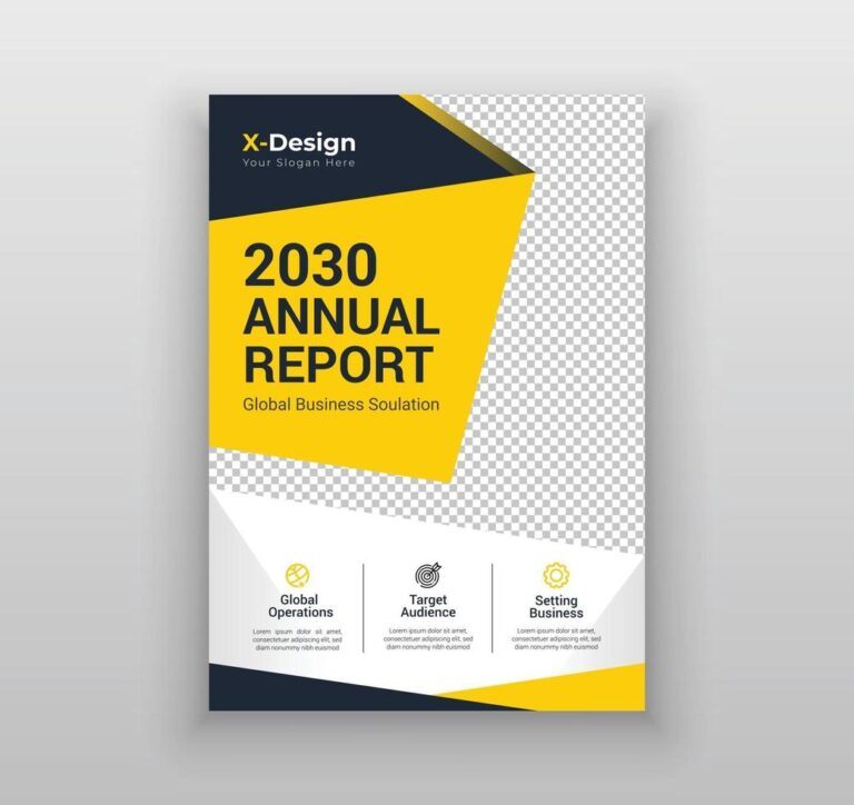annual report business flayer and brochure template design vector