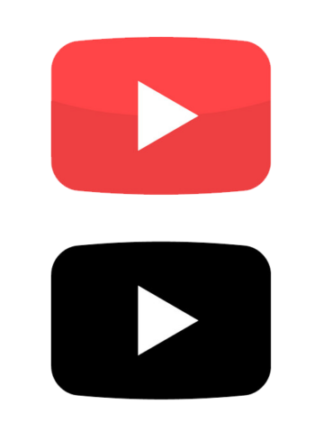 Youtube Play Button Icon Red Button Video Vector Colorpng free png image download