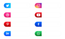 Youtube Social Media Icons With User Name Vector Colorpng free png image download