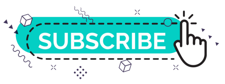 Youtube Subscribe Button With Finger And Memphis Design Vector Colorpng free png image download