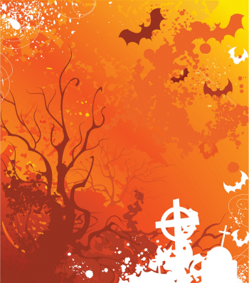 Background On Halloween With Withered Trees And Ab Vector Colorpng png free download