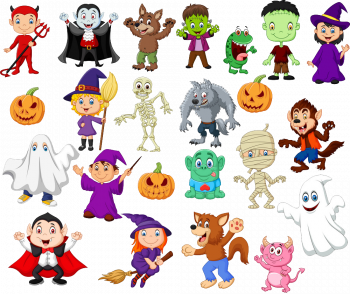 Big Collections Of Halloween Cartoon Vector Colorpng png free download
