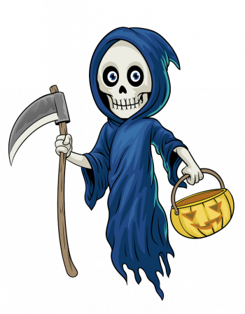 Cartoon Character Grim Reaper Hold Vector Colorpng png free download