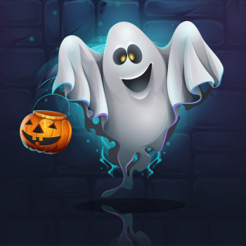 Cartoon Ghost Vector Colorpng png free download