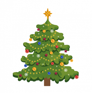 Christmas Tree Flat New Year Vector Imgenes Png Wave Colorpng com