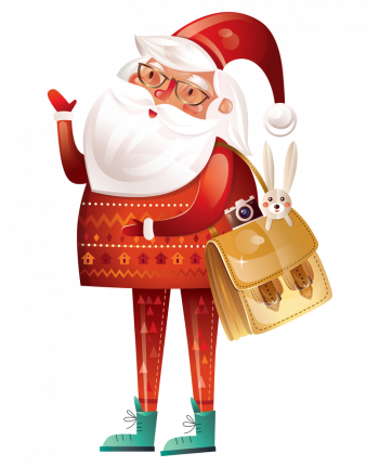 Christmas With Santa Claus On A White Background Vector Imgenes Png Wave Colorpng com