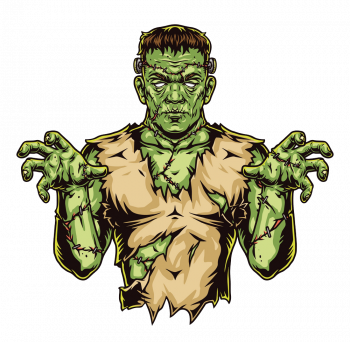 Colorful Concept Spooky Zombie Vector Colorpng png free download