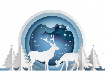 Deer In Forest With Snow Vector Imgenes Png Wave Colorpng com