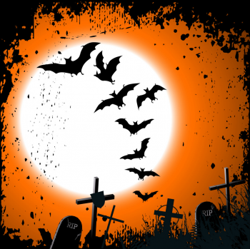 Halloween Background Destroyed Cemetery In Full Vector Colorpng png free download