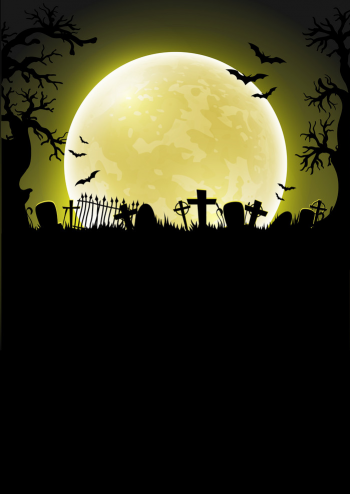 Halloween Background With Moon Vector Colorpng png free download