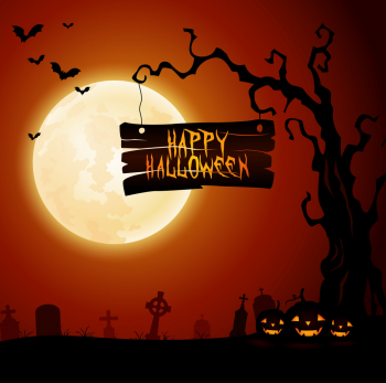 Halloween Graves Of Death Skeletons And Monsters Vector Colorpng png free download